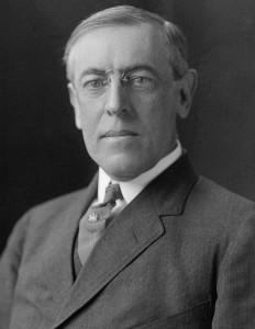 Il presidente Usa Woodrow Wilson (da Wikimedia)