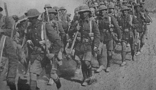 Truppe britanniche in Medio Oriente durante la Prima guerra mondiale (da Wikimedia)