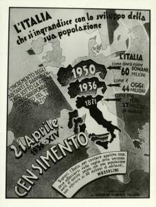 Un manifesto del censimento Istat del 1936