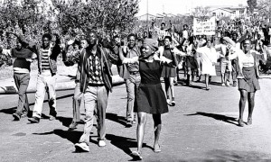 High school students in Soweto on the 16 June, 1976. Photograph: City Press/Getty Images