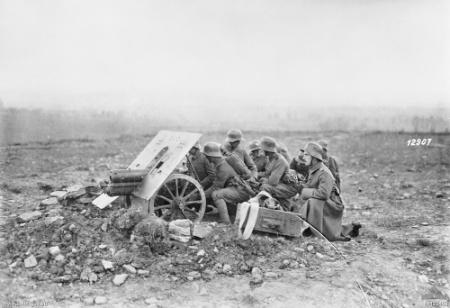 Cannone anticarro tedesco, 1918 , (da Wikimedia)