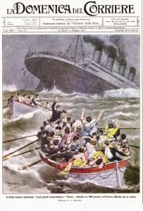 La domenica del Corriere - Terribile disastro marittino-il pi_ grande transatlantico Titanic affonda con 1600 persone nell'oceano spezzato da un Iceberg