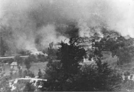 Boves in fiamme nel settembre 1943