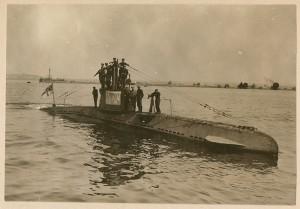 Il sommergibile tedesco UB-14 (da Flickr)