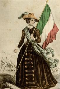 Cristina Belgiojoso Trivulzio con il cappello all'Ernani