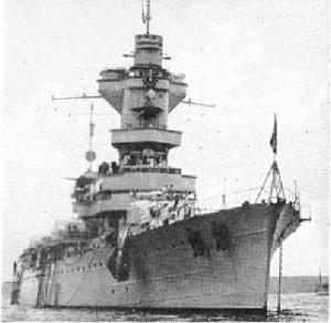 L'incrociatore francese Algerie che partecipò all'attacco (Wikipedia)