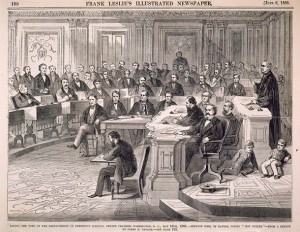 Il voto sull'impeachment di Andrew Johnson