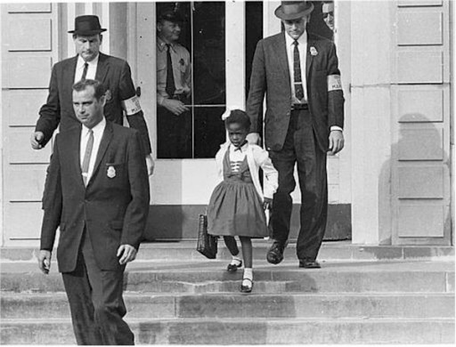 US_Marshals_with_Young_Ruby_Bridges_on_School_Steps