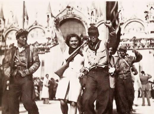 Partigiani a Venezia dopo la Liberazione (Wikipedia)