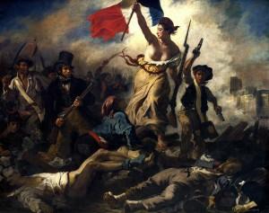Eugéne Delacroix - La libertà che guida il popolo