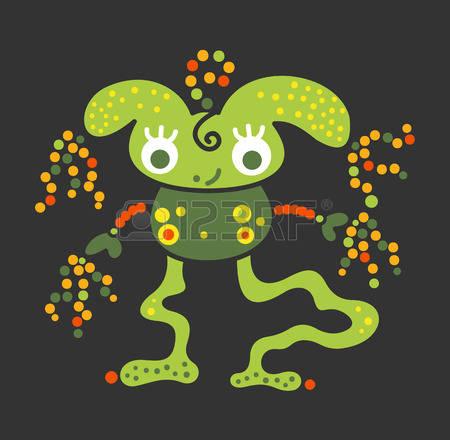 55298949-mostro-creatura-batteri-essenza-virus-ufo-alieno-rilassato-con-grandi-occhi