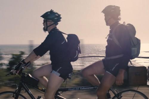 Andrea Moser e Gerhard Sanin, in bici per i vini del Kalterernsee