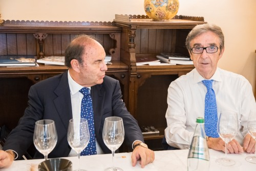 Bruno Vespa e Riccardo Cotarella