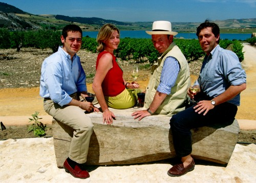 Diego Planeta con Francesca, Alessio e Santi nel 1998