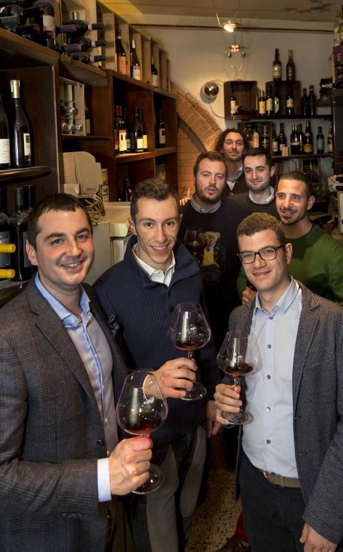 da sinistra a destra nella foto: Tommaso Cortonesi, Gianlorenzo Neri, Giovanni Neri, Amedeo Cencioni, Giacomo Bartolommei, Sebastian Nasello, Francesco Ripaccioli