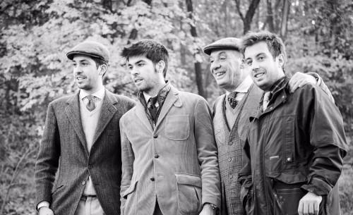 Piero Broglia, con Roberto, Filippo e Bruno, la terza generazione alla guida dell'azienda del bianco piemontese