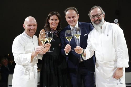 AlfioGhezzi_, Camilla e Matteo Lunelli_ e Norbert Niederkofler al galà per il Perlé Zero