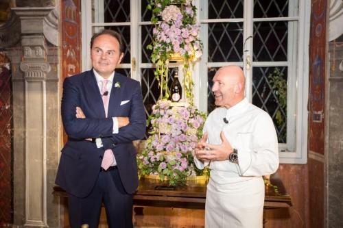 Matteo Lunelli con lo chef Alfio Ghezzi