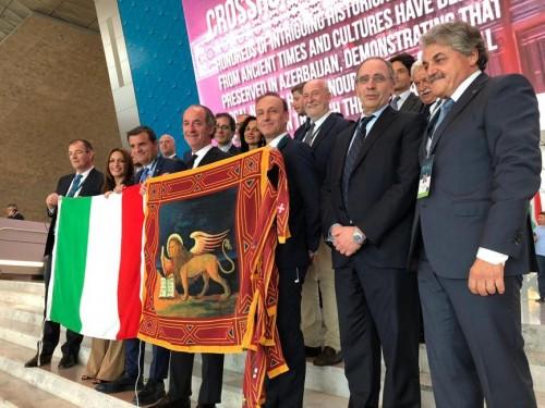 La delegazione italiana per la candidatura del Prosecco all'Unesco