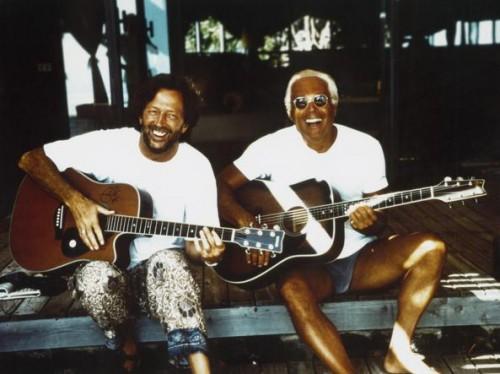 Con Eric Clapton a Pantelleria