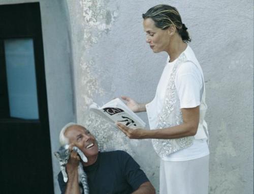 Armani e Lauren Hutton a Pantelleria (foto Snyder)