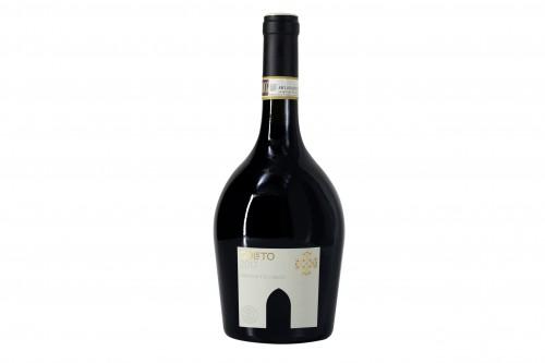 La bottiglia di Goleto con la sagoma dell'abbazia