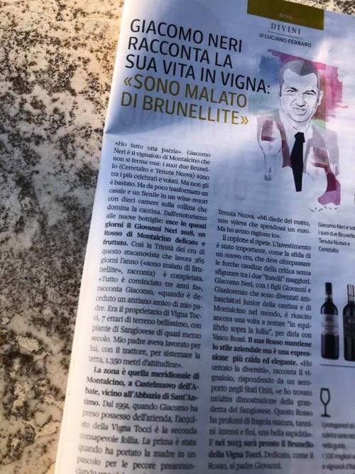 L'articolo uscito su Sette e rilanciato su Facebook da Giacomo Neri