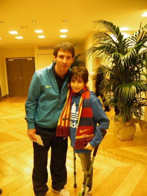 L'incontro di Francesco Messori con Messi il 22 novembre 2011