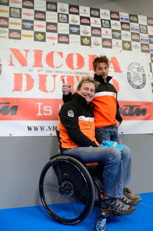 Nicola Dutto e Roberto Boasso, il suo meccanico e responsabile tecnico