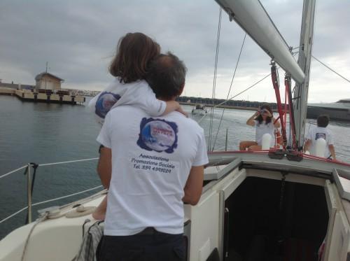 Eusebio e Sara a bordo di Adagio Blu