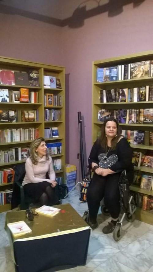 Noria Nalli alla presentazione del suo libro