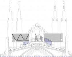 Passerella in piano e volumi sulle terrazze del Duomo