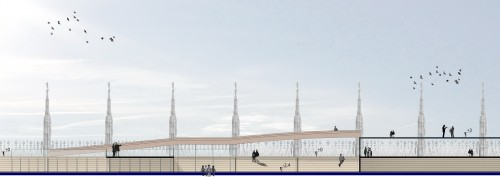 percorsi accessibili a quote differenti sulle terrazze del Duomo