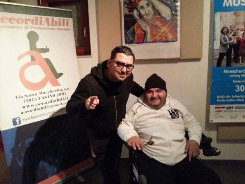 Vincenzo Deluci e Roy Paci nella sede di accordiabili
