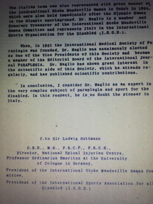 Lettera Guttmann per Maglio (conclusione)