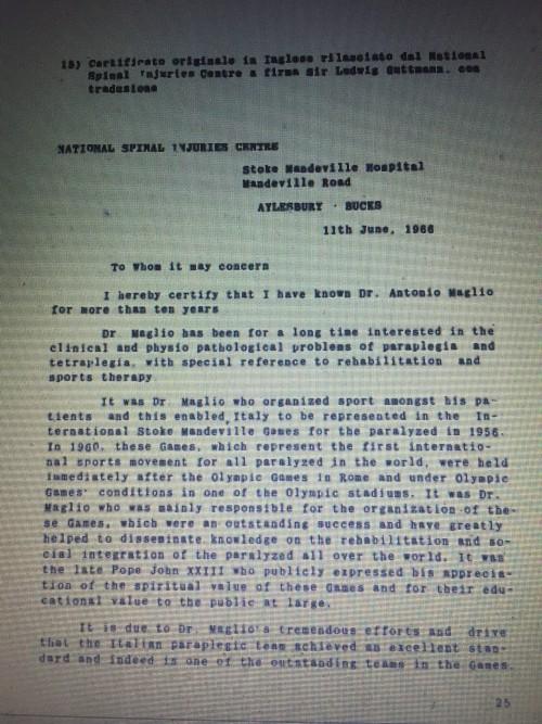 Lettera Guttmann per Maglio