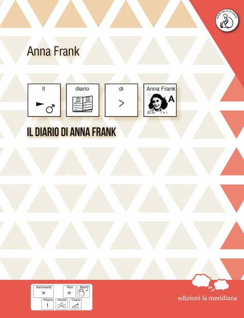 """La copertina de """"Il diario di Anna Frank"""" nella traduzione in simboli Caa"""