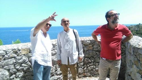 Antonio Presti, Reza Deghati e Luca Molinari - foto da Facebook