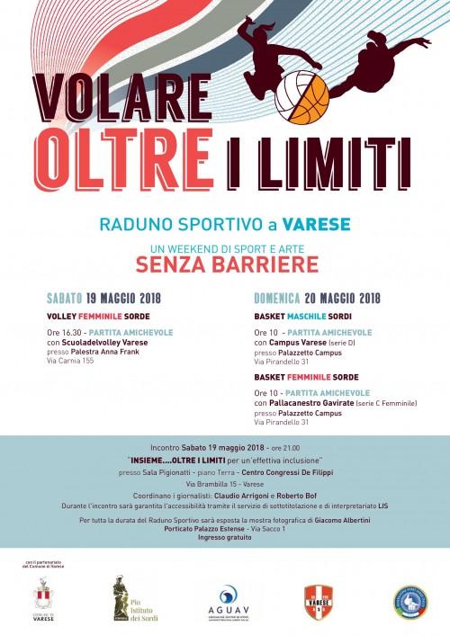 """Manifesto incontro """"Volare oltre i limiti"""" a Varese"""