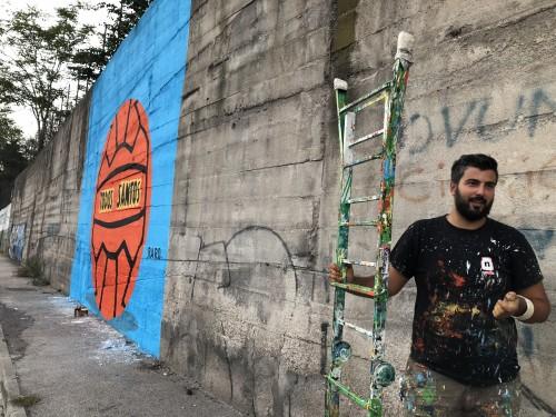 RaRo e il suo murale a Pianura