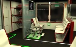 Posto riservato alle sedie a rotelle all'interno di Poseidon