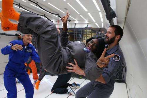 La simulazione di un volo spaziale con una persona con disabilità. (credit Esa)