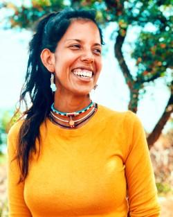 Gaia sorride felice