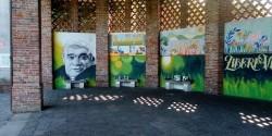 Il murale ripristinato grazie a Ratzo.