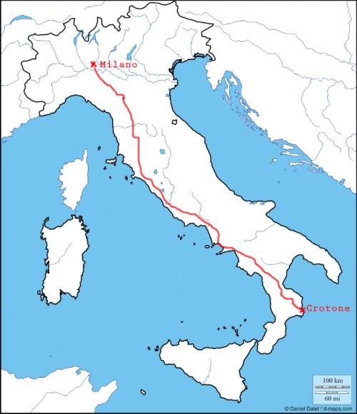 Cartina Dellitalia Milano.Marcello Da Milano A Crotone A Piedi Con La Macchina Fotografica Solferino 28 Anni