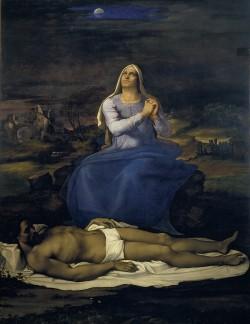 Sebastiano del Piombo (c. 1485-1547): Pieta'. Viterbo, Museo Civico