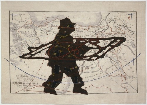 William Kentridge: Porter series. Expedition de jeune Cyrus et retraite des dix mille with wrought