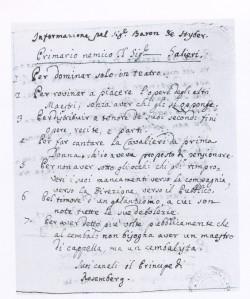 LORENZO DA PONTE,Informazione-per Sig.Baron de-Stybex contro Salieri