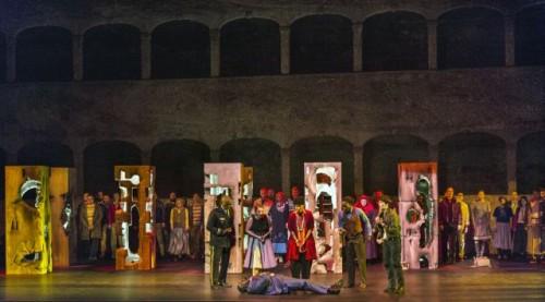 La corte romana intorno all'imperatore Tito ferito