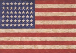 Jasper Johns, Flag, 1958. Encaustic Private collection Jasper Johns